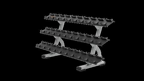 3-Tier-Kurzhantelständer für 15 Hantelpaare DBR0815