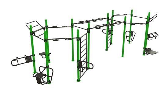 Outdoor Functional Double Hexagon - Eigengewicht-Trainingsstation - Fitnesspark für draußen