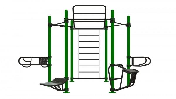Outdoor Functional Complex Hexagon - Eigengewicht-Trainingsstation - Fitnesspark für draußen
