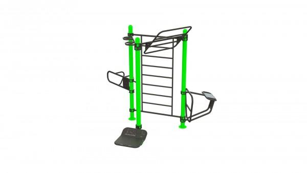 Outdoor Functional Six-User - Eigengewicht-Trainingsstation - Fitnesspark für draußen
