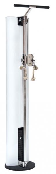 SlimBeam - Weißer Seilzug. Turm Kabelzug aus Holz