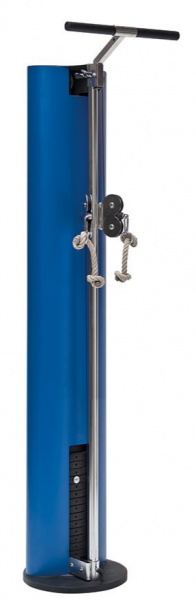 SlimBeam - Blauer Fitness Seilzug. Kabelzug aus Holz