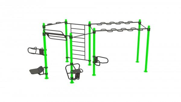 Outdoor Functional Complex Extended - Eigengewicht-Trainingsstation - Fitnesspark für draußen